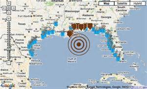 map of texas gulf coast beaches nrdc maps beaches closed by gulf spill treehugger
