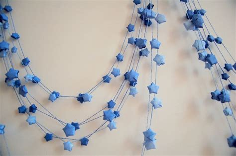 Origami Garland - origami lucky garland bedroom look