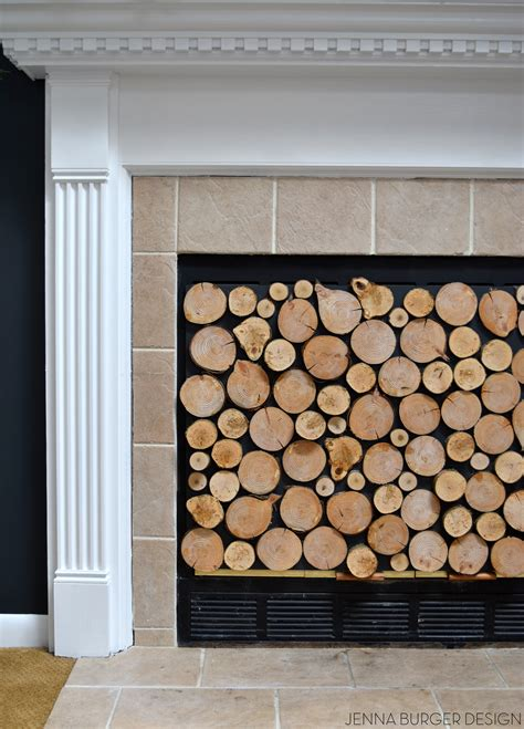 Faux Stacked Fireplace by Faux Stacked Log Fireplace Screen Burger