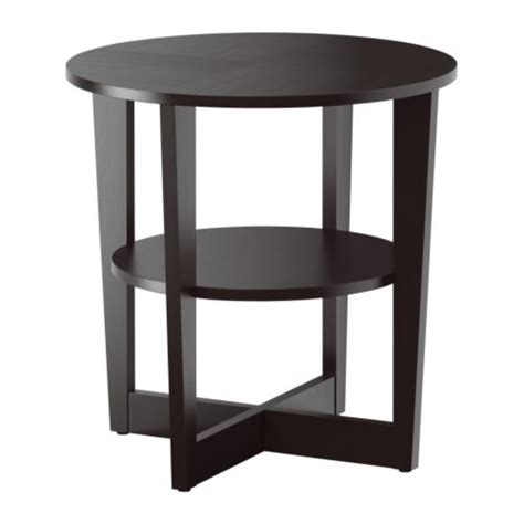 Black Side Table Vejmon Side Table Black Brown Ikea