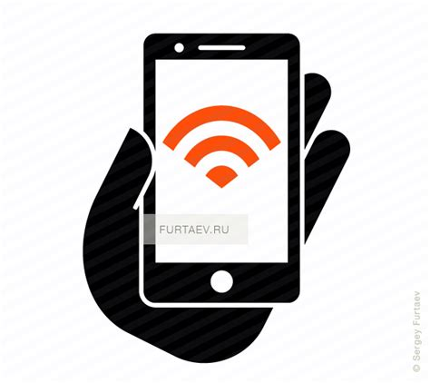 Wifi Smartphone smartphone with wifi vector icon