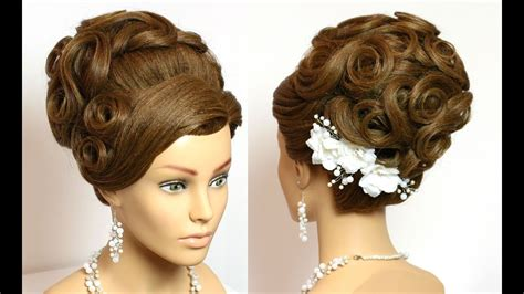 Wedding Hair With Roses by Bridal Hairstyle Wedding Updo For Hair With Roses Bun