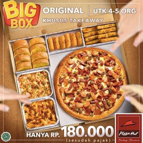 pizza hut promo big box paket hemat hanya rp 180 000