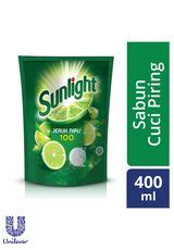 Sunlight Lemon New Refill 800ml lime cairan pencuci piring refill green tea pch 800ml
