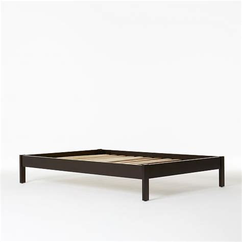 West Elm Simple Low Bed Frame Simple Bed Frame Chocolate West Elm