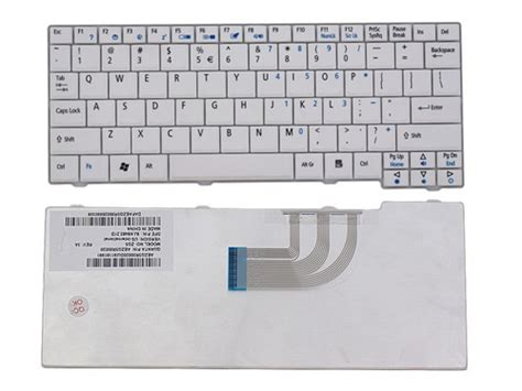 Keyboard Laptop Acer Zg5 Zg8 531h D150 D250 White keyboard acer aspire one a110 d150 d250 531h d250 zg5