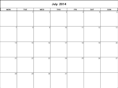 printable calendars july 2014 july 2014 printable blank calendar calendarprintables net