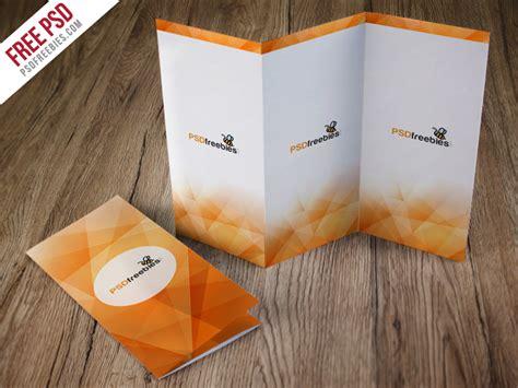 foldable card template psd tri fold brochure mockup free psd psdfreebies