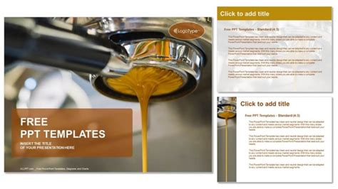 Coffee Machine Making Espresso Powerpoint Templates Powerpoint Templates For Machines