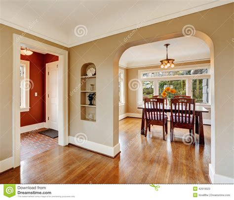 Home Design Plans Kerala Style by House Interior View Of Dining Area Entrance Hall Stock