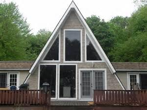 courson construction services siding an a frame home moon to moon a frame triangle houses