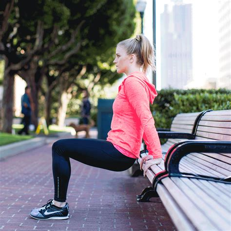 dips off bench 12 fun outdoor workouts so good you ll actually want to
