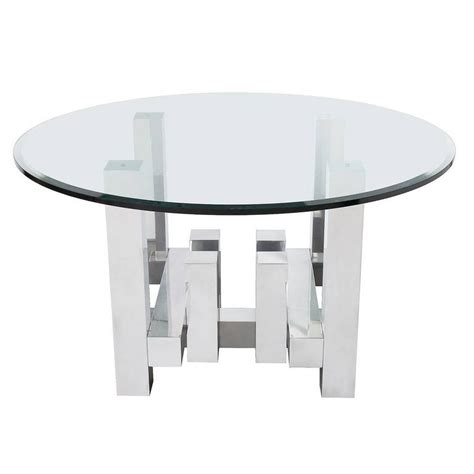 Directional Furniture by Paul Mayen Aluminium Geometric Cityscape Dining Table For