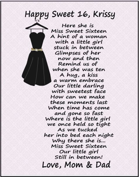 Sweet Sixteen Birthday Quotes Sweet Sixteen To My Daughter Item Fp101 Sweet Sixteen