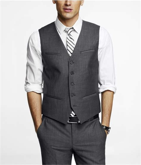 medium gray suit and vest but with light blue