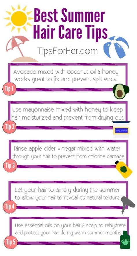 Summer Care 6 Useful Strategies by 6 Summer Hair Care Tips Best Hair Care Tips For Summer