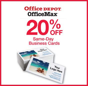 Office Depot Business Cards Coupon