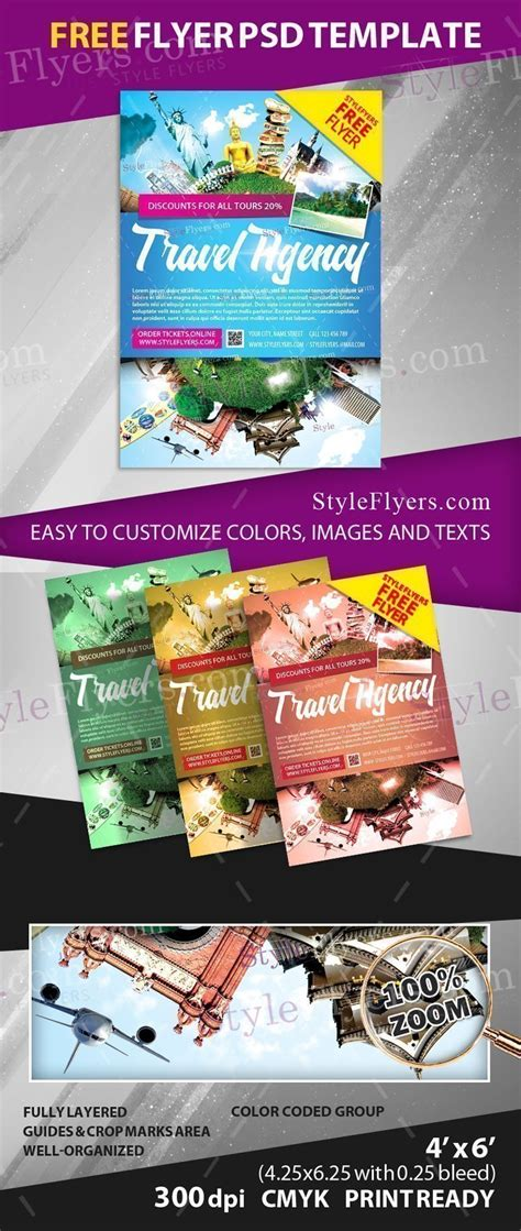 Travel Agency Free Psd Flyer Template Free Download 18133 Styleflyers Free Caign Flyer Template