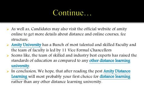 Amity Distance Mba Review by Review About Amity Distance Learning By
