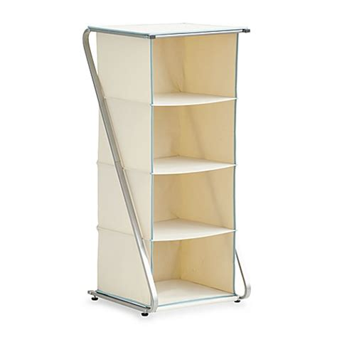bed bath and beyond closet organizer real simple free standing 4 cubby closet organizer bed
