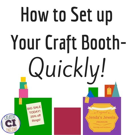 set up your craft show booth quickly indie crafts