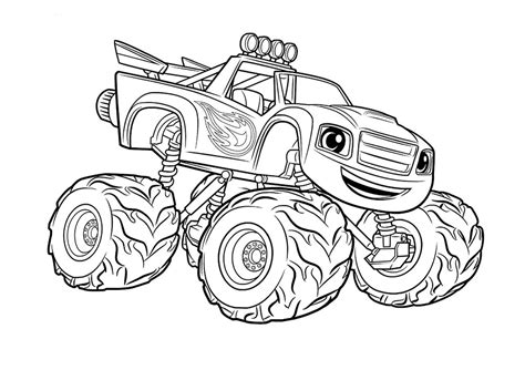 monster trucks videos for kids 95 vehicles coloring pages free printable click to