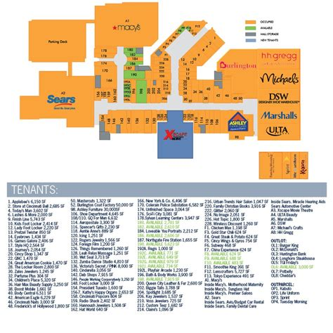 Eastgate Mall Floor Plan Northgate Mall Map