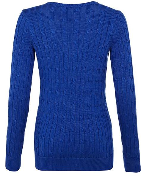blue cable knit sweater ralph blue label classic cable knit sweater in blue