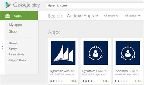 microsoft app store for mobile microsoft dynamics crm 2015 s new mobile app for