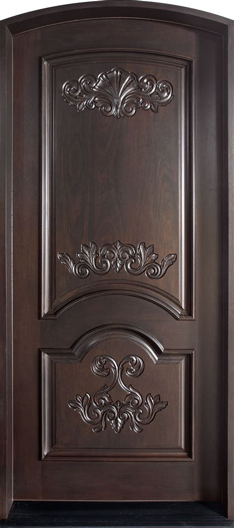 single front doors front door custom single solid wood with espresso