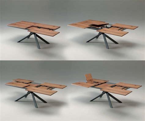 tisch table ozzio 4x4 eckiger esstisch zum ausziehen mit holzplatte
