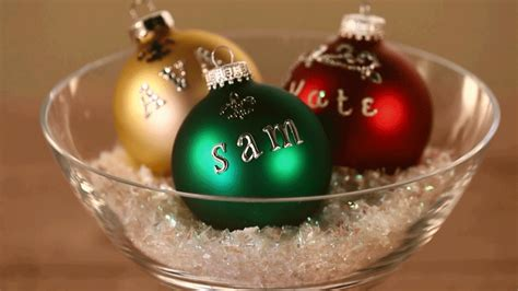 cristmas ball write name ornaments