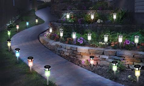 groupon lights all solar led garden lights groupon