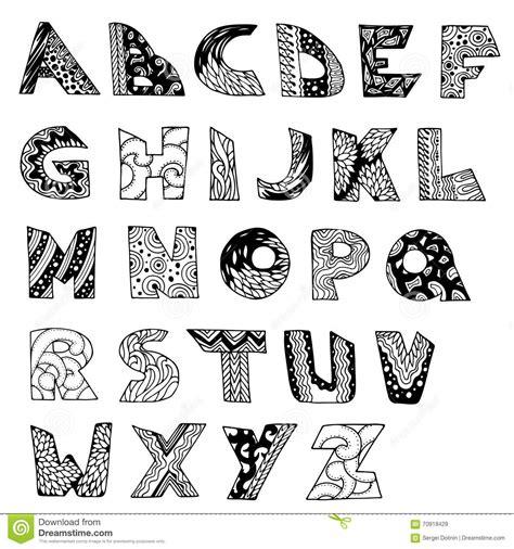 free doodle letters vector alphabet doodle type stock vector