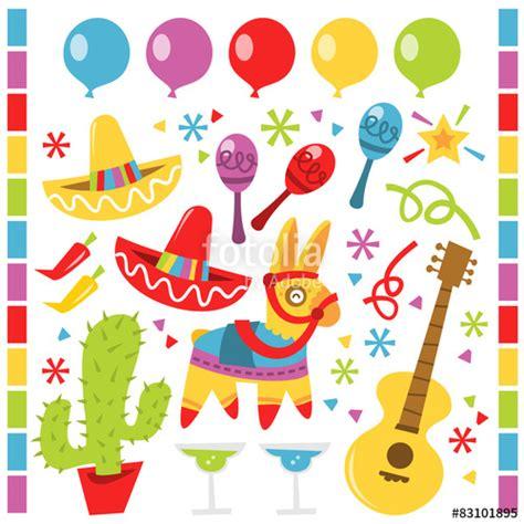 festa clipart quot retro mexican design elements quot stock image