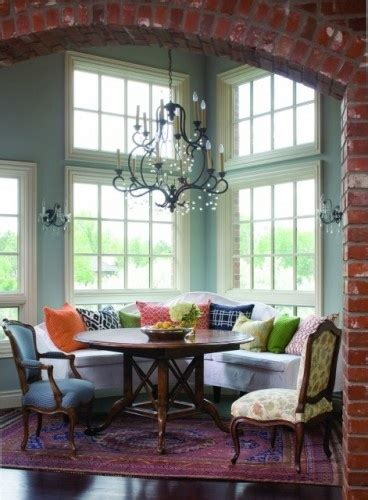 dining room nooks l shaped banquette bench with round table dining ideas
