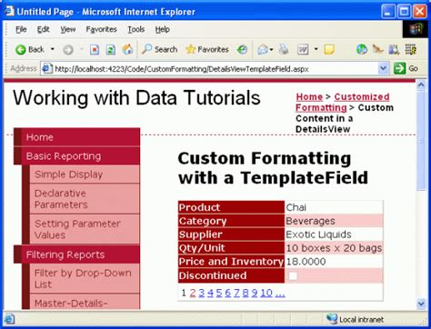 format date bind asp net using templatefields in the detailsview control c