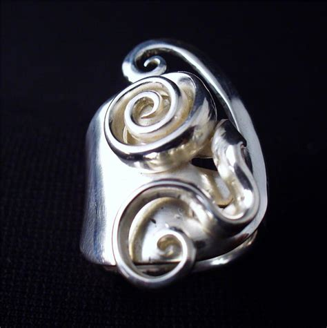 spoon jewelry solid sterling silver fork ring sz 5 15