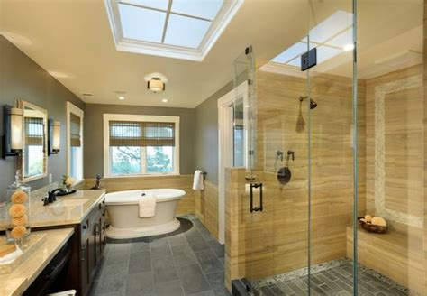 25 glass shower doors for a truly modern bath modern bathroom in yellow and gray with spacious glass
