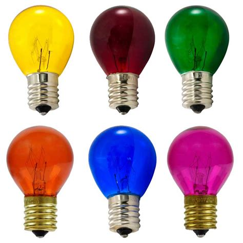 colored light bulbs multi color pack of b10 s11 light bulbs