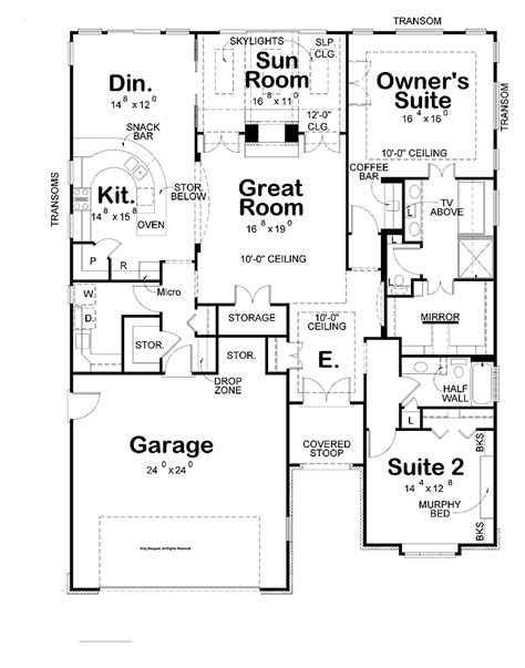 two bedroom house plans with garage