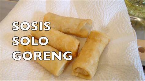 sosis solo  membuat sosis solo goreng indonesian