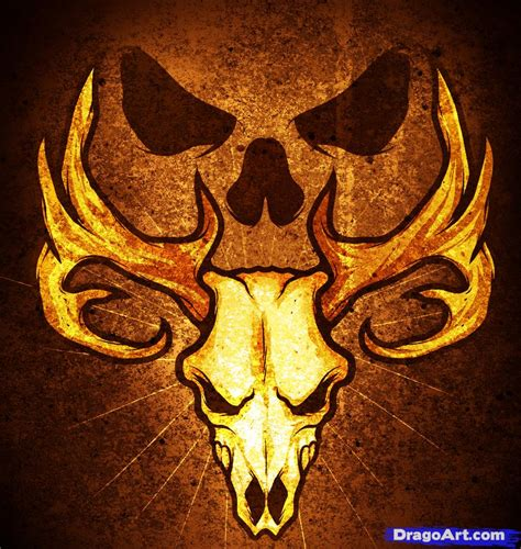 deer skull tattoo how to draw a deer skull deer skull step by step