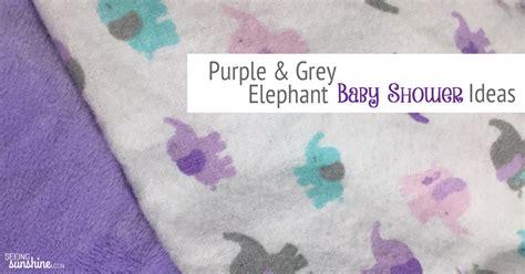 Baby Shower Elephant Ideas by Purple Elephant Baby Shower Ideas Seeing