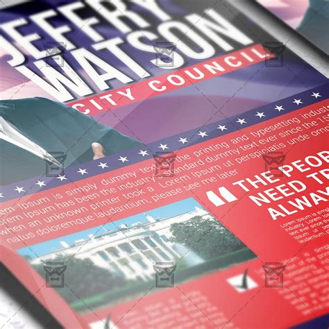 voting flyer templates free political election premium flyer template