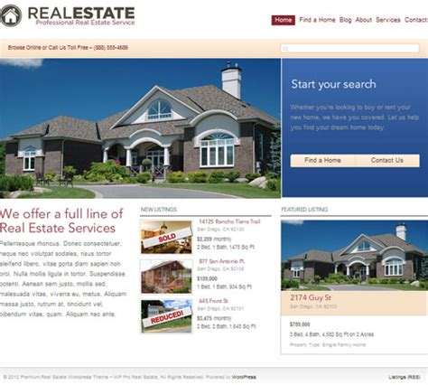 14 premium themes for real estate and brokers