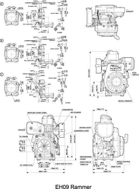 subaru engine diagram eh09 ohv engine technical information subaru