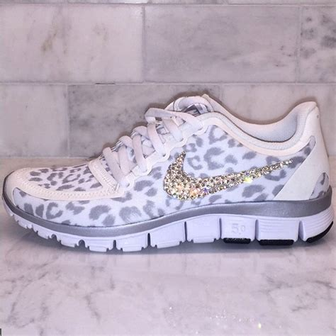 cheetah nikes running shoes details about bling white and silver cheetah leopard