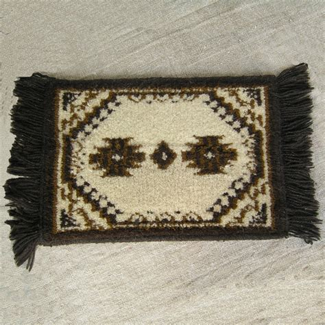 small rug vintage small carpet rug retro miniature wool by