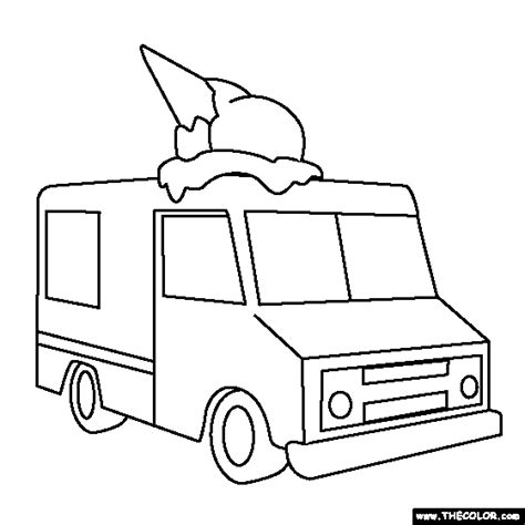 ice cream truck coloring page online coloring pages starting with the letter i